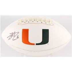 Lamar Miller Signed Miami Hurricanes Logo Football (JSA COA)
