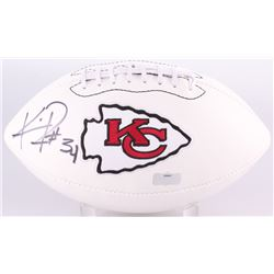 Knile Davis Signed Chiefs Logo Football (Radtke Hologram)