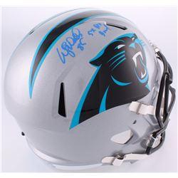 "Wesley Walls Signed Panthers Full-Size Helmet Inscribed ""5x Pro Bowl"" (Radtke COA)"