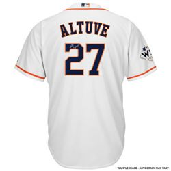Jose Altuve Signed Astros Jersey with 2017 World Series Patch (Fanatics Hologram)