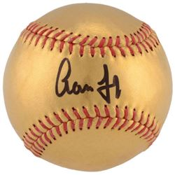 Aaron Judge Signed 24kt Gold Baseball (Fanatics Hologram)
