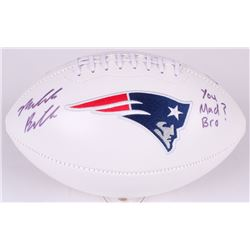 "Malcolm Butler Signed Patriots Logo Football Inscribed ""You Mad Bro?!"" (Radtke COA  Fanatics Hologra"