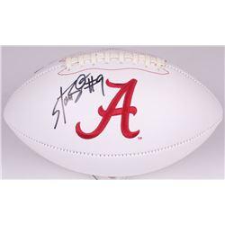 Bo Scarbrough Signed Alabama Crimson Tide Logo Football (Radtke COA)