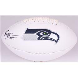 Brian Bosworth Signed Seahawks Logo Football (JSA COA)