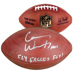 """Carson Wentz Signed """"The Duke"""" Official NFL Game Ball Inscribed """"Fly Eagles Fly!"""" (Fanatics)"""