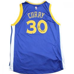 "Stephen Curry Signed Warriors Jersey Inscribed ""15-16 NBA MVP"" (Steiner Hologram)"