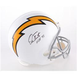 "Dan Fouts Signed Chargers Full-Size Helmet Inscribed ""HOF '93"" (JSA COA)"