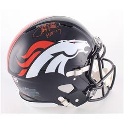 "Terrell Davis Signed Broncos Full-Size Authentic On-Field Helmet Inscribed ""HOF 17"" (Davis COA)"