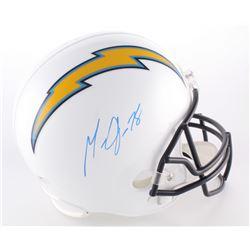Melvin Gordon Signed Chargers Full-Size Helmet (Radtke COA)