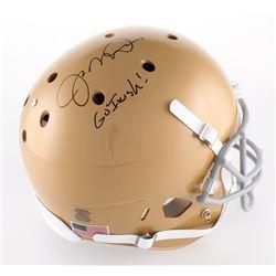 "Joe Montana Signed Notre Dame Fighting Irish Full-Size Helmet Inscribed ""Go Irish!"" (Radtke Hologram"