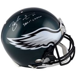 """Zach Ertz Signed Eagles Full-Size Authentic On-Field Helmet Inscribed """"SB LII Champs"""" (Fanatics Holo"""
