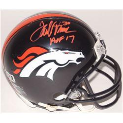 "Terrell Davis Signed Broncos Mini Helmet Inscribed ""HOF 17"" (Radtke COA  Davis Hologram)"