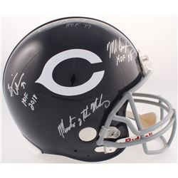 """""""Monsters of the Midway"""" Bears Full-Size Authentic On-Field Throwback Helmet Signed by (3) with Mike"""