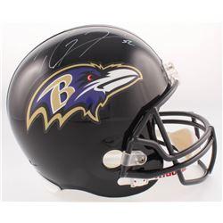 Ray Lewis Signed Ravens Full-Size Helmet (Radtke COA  Lewis Hologram)