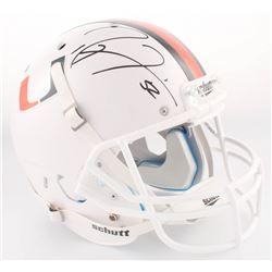 Ray Lewis Signed Miami Hurricanes Full-Size Helmet (Radtke COA  Lewis Hologam)