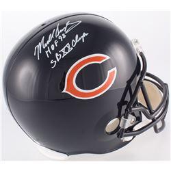 """Mike Singletary Signed Bears Full-Size Helmet Inscribed """"HOF 98""""  """"SB XX Champs"""" (JSA COA)"""