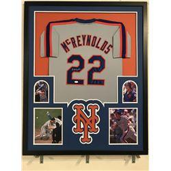 Kevin McReynolds Signed  Mets 34x42 Custom Framed Jersey Display (JSA COA)