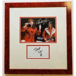 Jack White  Loretta Lynn Signed 16x17 Custom Framed Photo  Signature Cut Display (JSA COA)