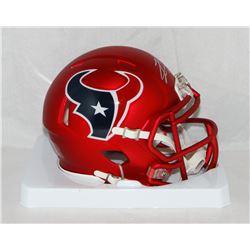 Lamar Miller Signed Texans Blaze Speed Mini Helmet (JSA COA)