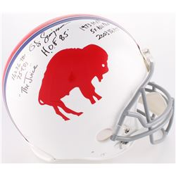 O. J. Simpson Signed Bills Throwback Full-Size Authentic On-Field Helmet With Multiple Inscriptions