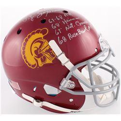 O. J. Simpson Signed USC Trojans Full-Size Authentic On-Field Helmet With Multiple Inscriptions (JSA