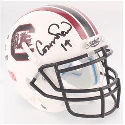 "Connor Shaw Signed South Carolina Gamecocks Mini Helmet Inscribed ""17-0 HOME RECORD"" (Radtke COA)"
