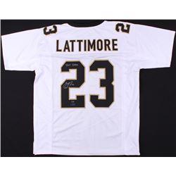 "Marshon Lattimore Signed Saints Jersey Inscribed ""2017 DROY"" (Radtke COA  Lattimore Hologram)"