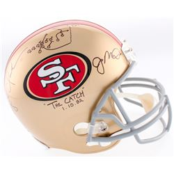"""Joe Montana  Dwight Clark Signed 49ers Full-Size Helmet Inscribed """"The Catch""""  """"1-10-82"""" with Hand-D"""