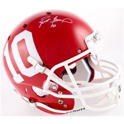 Brett Favre Signed Hancock North Central High School Hawks Full-Size Helmet (Favre COA)