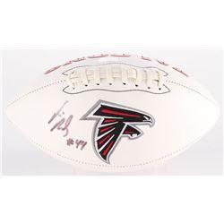 Vic Beasley Signed Falcons Logo Football (Radtke COA)