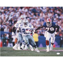 Emmitt Smith Signed Cowboys 16x20 Photo (JSA COA)