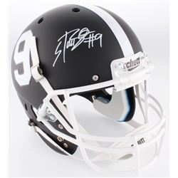 Bo Scarbrough Signed Alabama Crimson Tide Full-Size Custom Matte Black Helmet (Radtke COA)