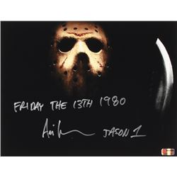 "Ari Lehman Signed Jason Voorhees 11x14 Photo Inscribed ""Friday the 13th 1980""  ""Jason 1""  (PA COA)"