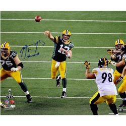 "Aaron Rodgers Signed LE Packers ""SB XLV"" 20x24 Photo Inscribed ""XLV MVP (Steiner COA)"