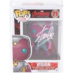 "Stan Lee Signed ""Vision"" #71 Avengers: Age of Ultron Marvel Funko Pop Vinyl Bobble-Head Figure (Radt"