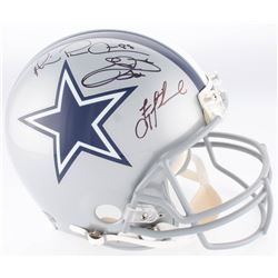 "Troy Aikman, Emmitt Smith  Michael Irvin ""The Triplets"" Signed Cowboys Authentic On-Field Full-Size"