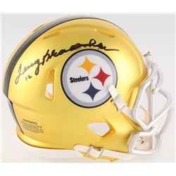 Terry Bradshaw Signed Steelers Blaze Mini Speed Helmet (Radtke COA)