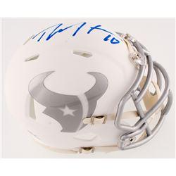 DeAndre Hopkins Signed Texans White IC Speed Mini-Helmet (Radtke Hologram)