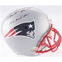 "Malcolm Butler Signed Patriots Full-Size Helmet Inscribed ""You Mad Bro?"" (Radtke COA)"