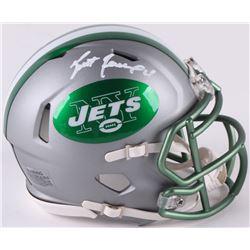 Brett Favre Signed Jets Mini Blaze Speed Helmet (Radtke COA)