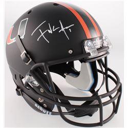 Frank Gore Signed Miami Hurricanes Full-Size Custom Matte Helmet (Radtke COA)