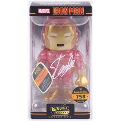 """Stan Lee Signed """"Iron Man"""" Marvel Hikari Vinyl Action Figure (Radtke Hologram  Lee Hologram)"""