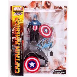 "Stan Lee Signed ""Captain America"" Marvel Select Action Figure (Radtke COA  Lee Hologram)"