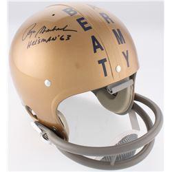 "Roger Staubach Signed Navy Midshipmen Throwback Full-Size Suspension Helmet Inscribed ""Heisman '63"""