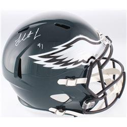 Fletcher Cox Signed Philadelphia Eagles Full-Size Speed Helmet (Fanatics Hologram)