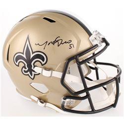 Manti Te'o Signed Saints Full-Size Speed Helmet (Radtke COA)