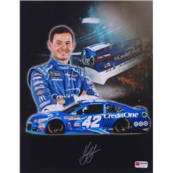 Kyle Larson Signed NASCAR 2017 Credit One 11x14 Photo (PA COA)