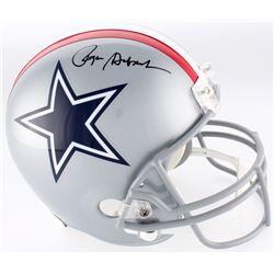 Roger Staubach Signed Cowboys Throwback Full-Size Helmet (JSA COA)