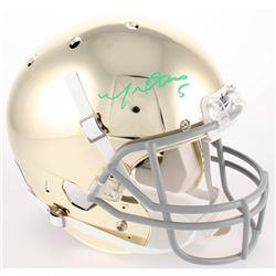 Manti Te'o Signed Notre Dame Fighting Irish Chrome Full-Size Helmet (Radtke COA)
