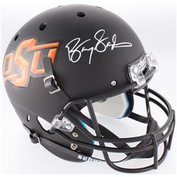 Barry Sanders Signed Oklahoma State Cowboys Full-Size Helmet (Radtke COA  Schwartz Sports Hologram)